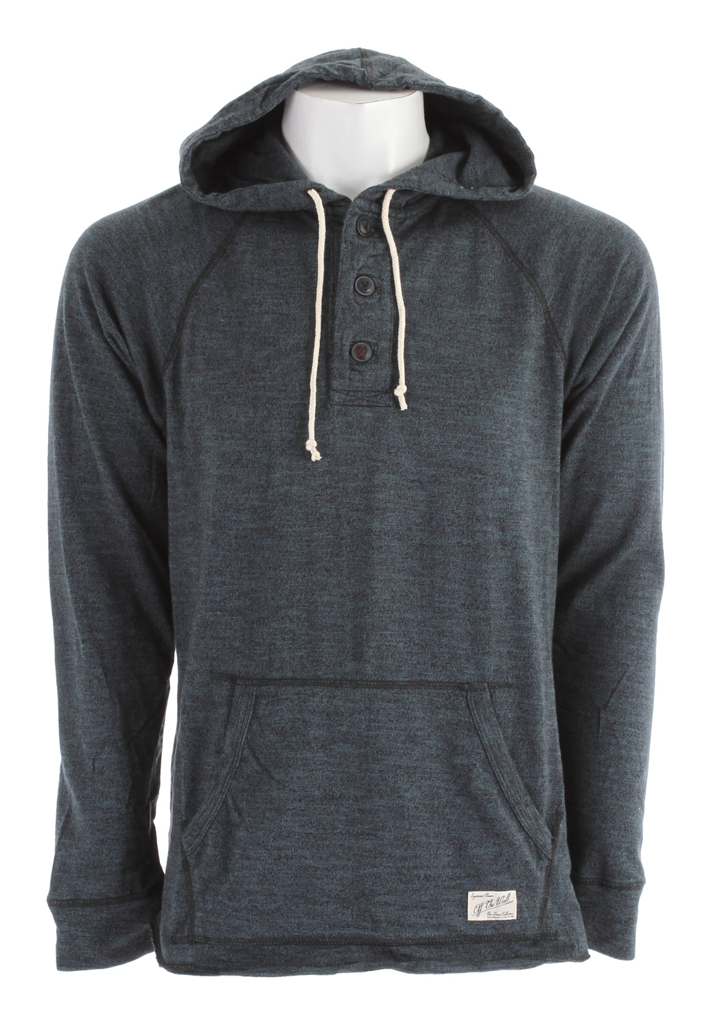 Skateboard Key Features of the Vans Lindero Hoodie: 100% Cotton long sleeve grindle jersey pullover henley hoodie with drawstrings Front pouch pocket with Vans patch label - $40.95