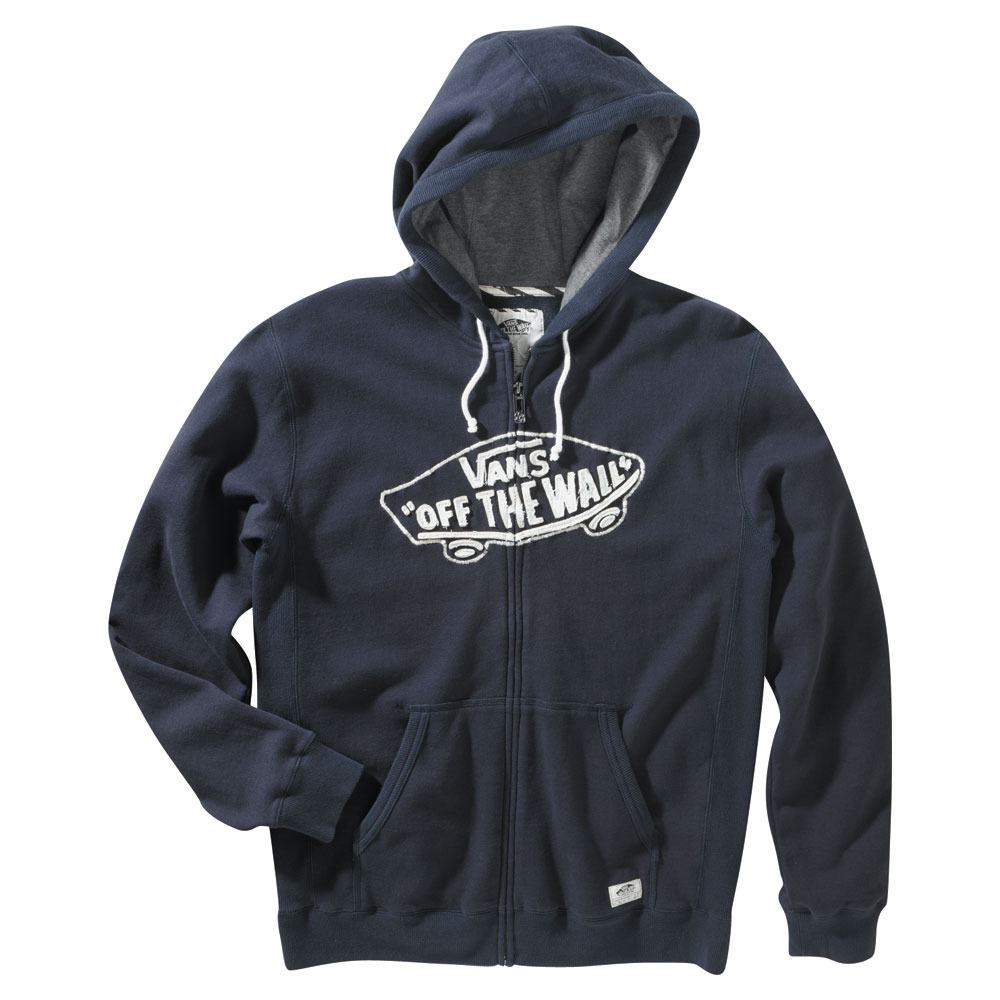 "Skateboard Key Features of the Vans Vintage OTW Zip Hoodie: 100% Cotton brushback fleece zip hoodie with Vans ""OTW"" applique Front pouch pocket with Vans patch label Pique jersey hood lining Side panel detailing Garment wash - $25.95"
