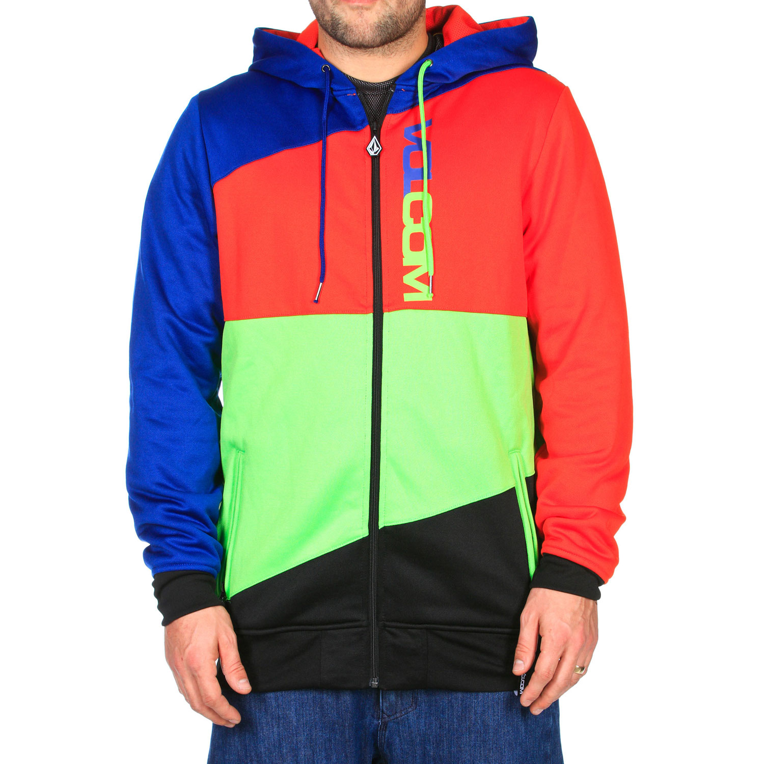 Surf Key Features of the Volcom Cane Hydro Hoodie: 280 gm Hydro Fleece Mesh Lined Ribbed Cuff Ribbed Hem Zippered Hand Pockets Drawcord Hood Cinch Whistle Zipper Pull Volcom Screen Standard Fit - $90.00
