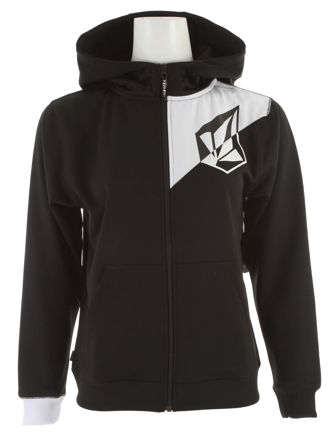 Surf Key Features of the Volcom Jude Full Zip Hoodie: Hydrophobic Fleece Contrast Colored Ribbed Cuffs Ribbed Hem 2-Tone Stone Screen Volcom Woven Label - $37.95