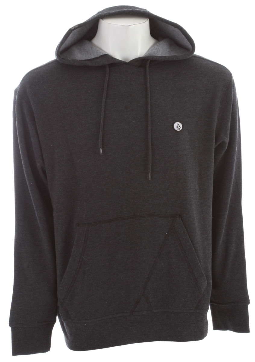 Surf The Volcom Lapuente Hoodie is made from a cotton/polyester fleece blend that is pre-shrunk, featuring a slim-fit look.  The Lapuente Hoodie can be worn for everyday use, but can also be used for layering in case of colder weather.  The distinctive style of Volcom will be on display by anyone wearing this pullover hoodie.  The Lapuente Hoodie features a kangaroo pocket on the front side of the hoodie.  Wearers of the hooded sweatshirt will be comfortable as well as warm.Key Features of the Volcom Lapuente Hoodie:  Basic Hooded Pullover  Loose knit lightweight fleece  All over printed stripes  Pre shrunk, Slim fit  60% Cotton / 40% Polyester Fleece, 280gm - $36.95