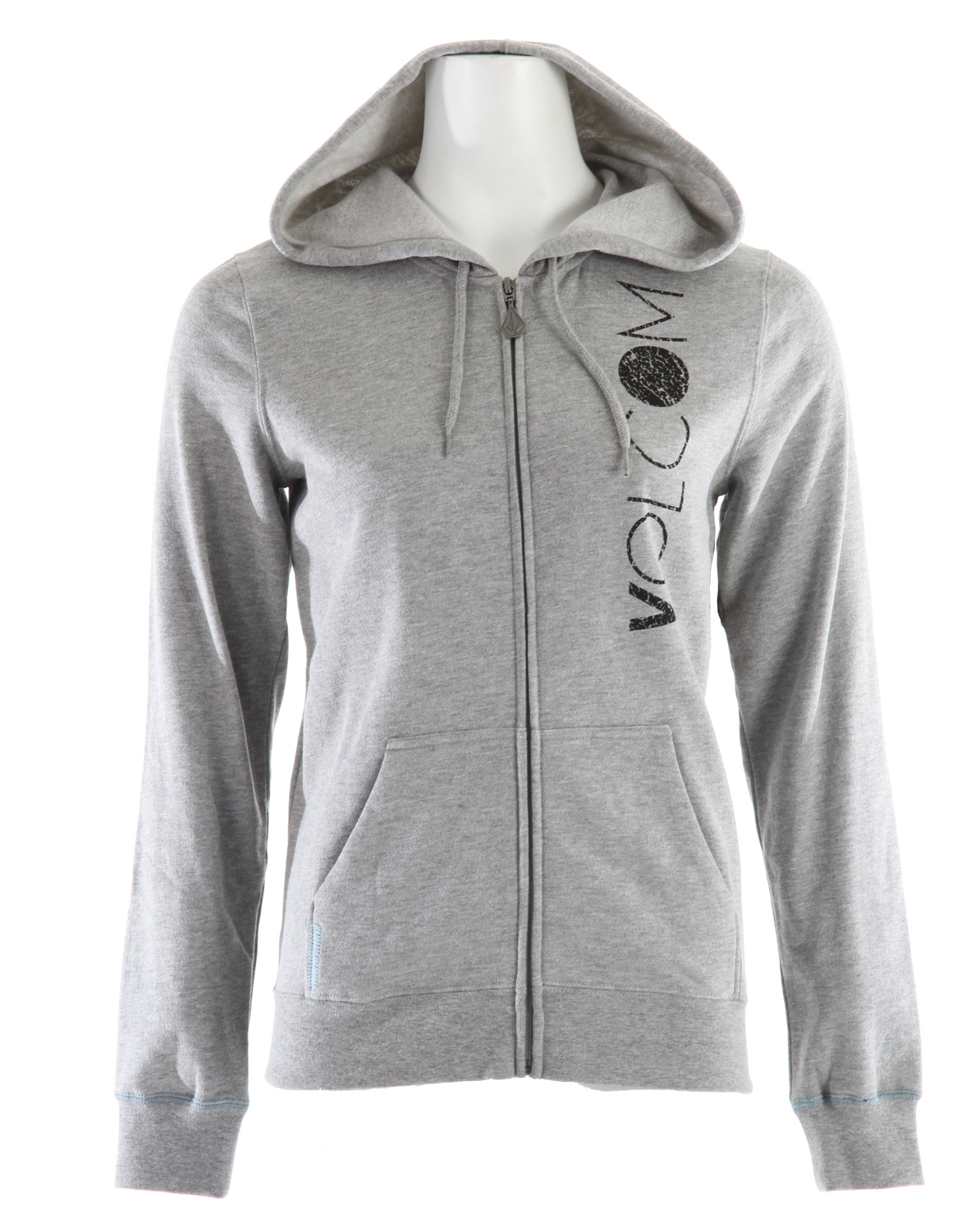"Surf Key Features of the Volcom Niiice Stones Standard Zip Hoodie: 60% Cotton / 40% Polyester Fleece, 240gm. Hooded zip fleece with contrast stitching at sleeve cuffs and pocket. Detailed with logo eyelets, Stone zipper pull, Volcom waterbase ink screen at front and printed appliques at back. 25"" length. - $37.95"