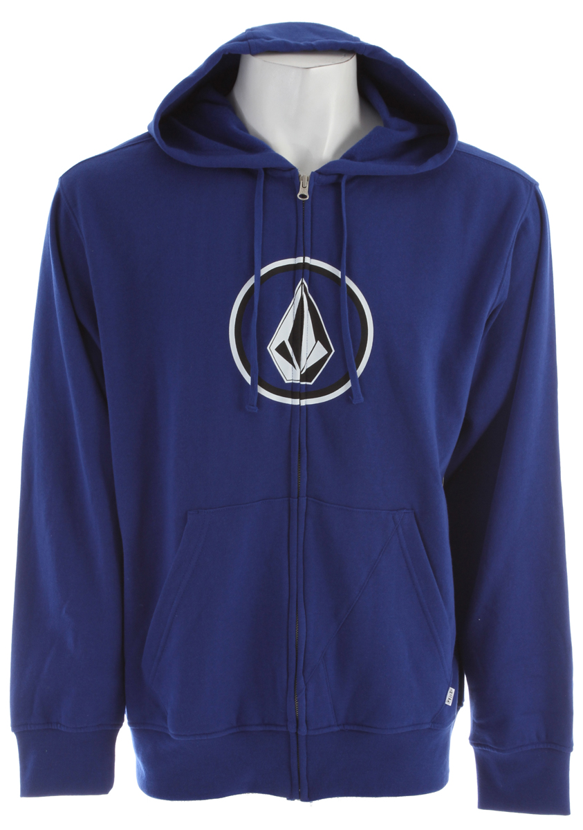 Surf Key Features of the Volcom Pure Fun Basic Hoodie: Basic hooded zip Custom stone pocket Chest and sleeve screenprint Pre skunk, Basic fit 60% Cotton / 40% Polyester 280gm - $36.95