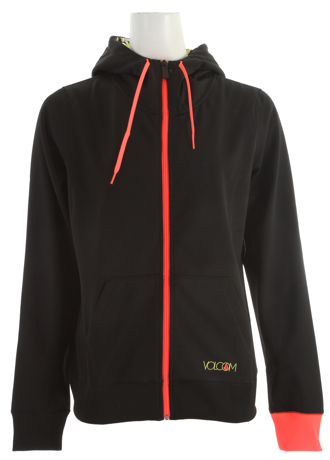 Surf Key Features of the Volcom Pyrus Full Zip Hoodie: Hydrophobic Fleece Ribbed Cuff Ribbed Hem Contrast Colored Drawcord Hood Cinch Printed Hood Lining Volcom Text And Stone Embroidery Volcom Woven Label - $60.00