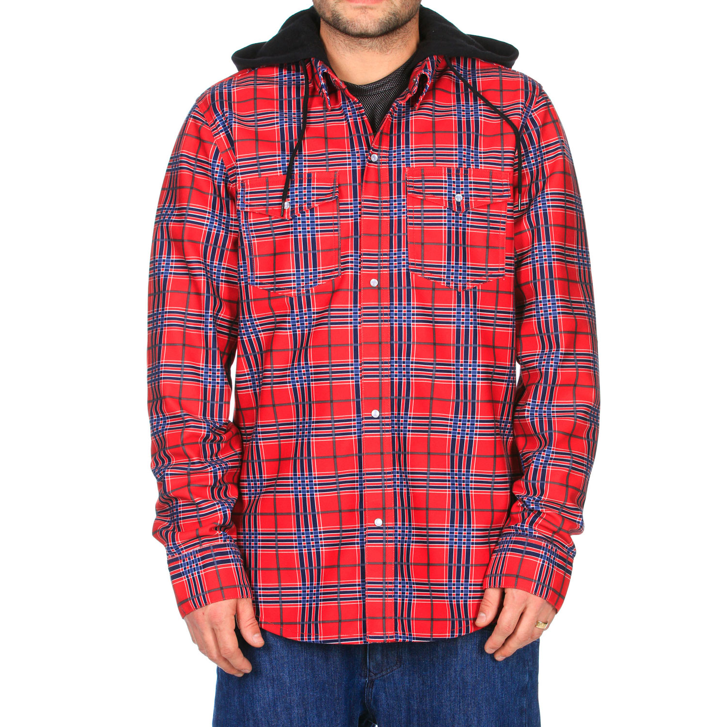 Surf The Volcom Redding Flannel Hoodie is a soft, warm covering great for early spring and late autumn. The drawcord hood is great for pulling tight to keep the wind out and since it is made with jersey cotton it does a great job of that while still being soft. With a bit of water resistance, this hoodie keeps you dry in light rain or misting weather. The Redding Flannel Hoodie is a great choice for going for a hike or working outside on a cool day. Not only that it looks good, so be sure to pick one up for yourself today.Key Features of the Volcom Redding Flannel Hoodie:  Bonded Flannel With Poly Mesh Backing  Cotton Jersey Hood  Drawcord Hood Cinch   Stone Woven Label   Standard Fit - $65.95