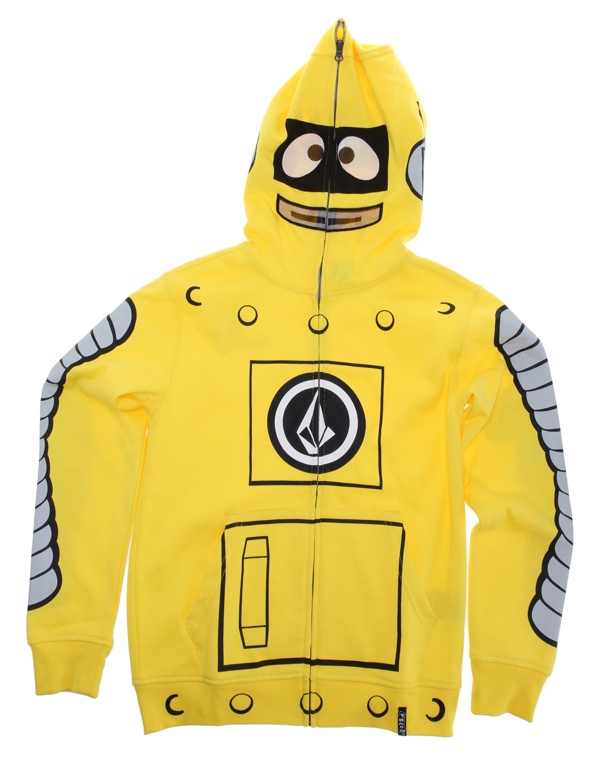Surf Key Features of the Volcom Yo Gabba Gabba Full Zip Hoodie: Full face zip hood, little youth is 1/2 face zip mesh mouth and mesh eyes, little youth has drop down mesh mask Featuring Yo Gabba Gabba characters Pre shrunk, Slim fit 60% cotton/40% polyester fleece 208g - $55.95