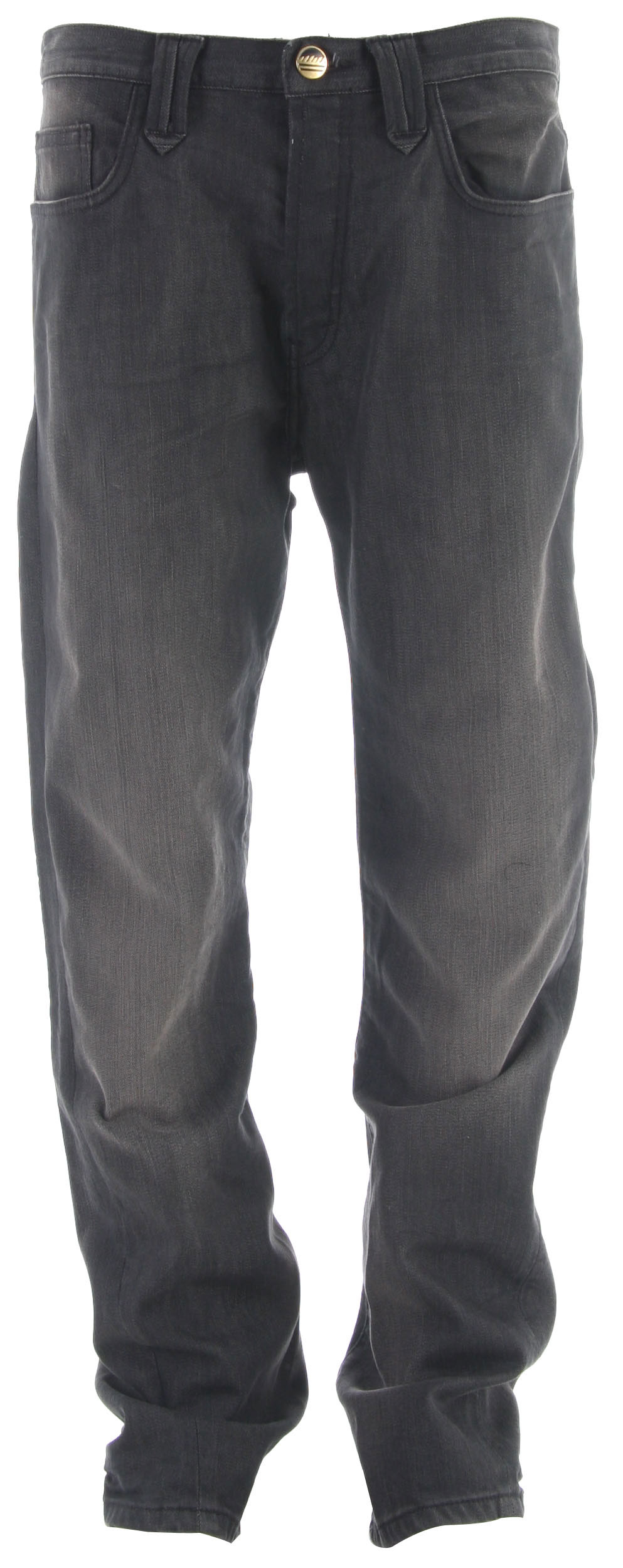 "Key Features of the Analog Arto Blue Grey Jeans: Regular Fit with standard rise and tapered leg Twisted leg seams articulate shape and fit of lower leg16"" leg opening - $50.95"