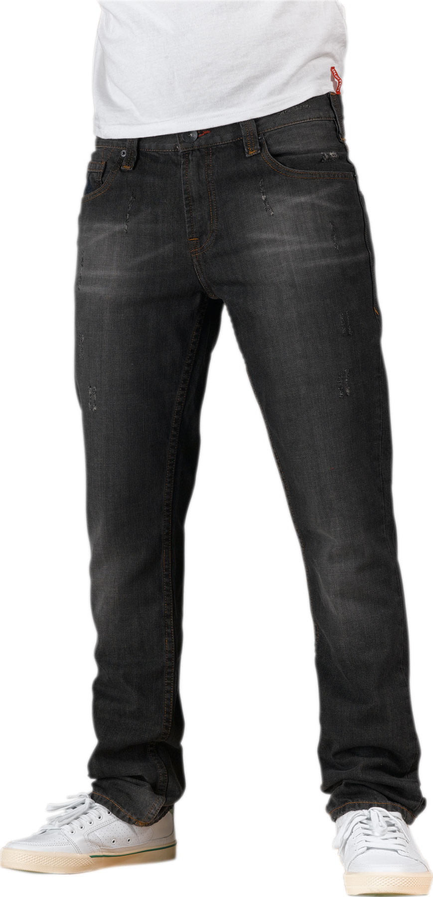 "Snowboard Add a pair of stylish Burton Mid Fit Jeans to your wardrobe. Whether you are out on the town with some friends, interviewing for a job, going out for dinner with a date, or lounging at home, these jeans are perfect for any situation with their classic straight leg, medium rise fit. 100% cotton means 100% comfort. The custom rivets and contrast stitching make these Mid Fit Jeans stand out. Pull off a clean, casual appearance with the coolest jeans in town: the Burton Mid Fit!Key Features of the Burton Mid Fit Jeans: 100% Cotton 11.25oz. Denim Twill Pant Medium Rise Straight Leg 15.5"" Leg Opening Custom Rivets and Shanks Mountain Logo Stitch Detail on Back Pocket Logo Embroidery at Coin Pocket Contrast Stitching Zip Fly - $25.95"