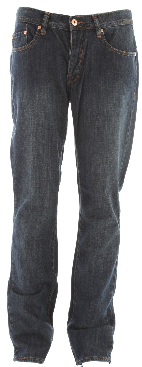 "Key Features of the Matix Gripper Jeans: Five-pocket denim pant Button fly Fitted through the thigh, knee and legs Slim Straight Leg 16"" leg opening 32"" inseam Low Rise 16.5"" knee - $68.00"