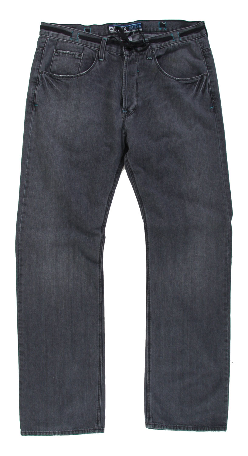 "The Matix Miner Jeans features a classic five pocket design. These jeans are straight leg, flattering to any body shape. Fits so perfectly, you will feel ultra comfortable all day long. Add style to any outfit with these classic denim jeans, a look that will surely last forever. So, be sure to add the Matix Miner Jeans to your wardrobe this season.Key Features of The Matix Miner Jeans: Straight Leg Five Pocket Denim Pant Button Fly Comfortable Through the Hip and Thigh Standard Rise Straight Leg Opening 17.5"" 32"" European Button Fly - $36.95"