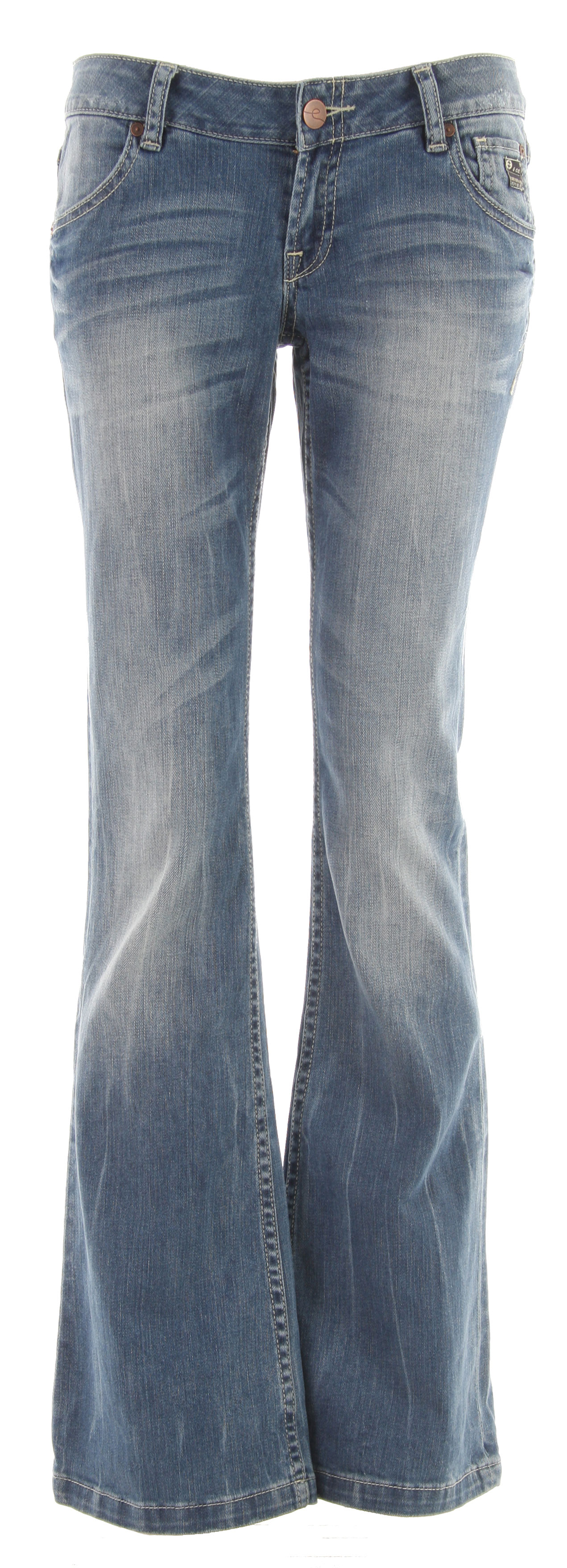 Key Features of the Planet Earth Boot Cut Stone Wash Jean: Zip Fly Button Closure 20% Organic Cotton/78% Cotton/2% Spandex - $27.96