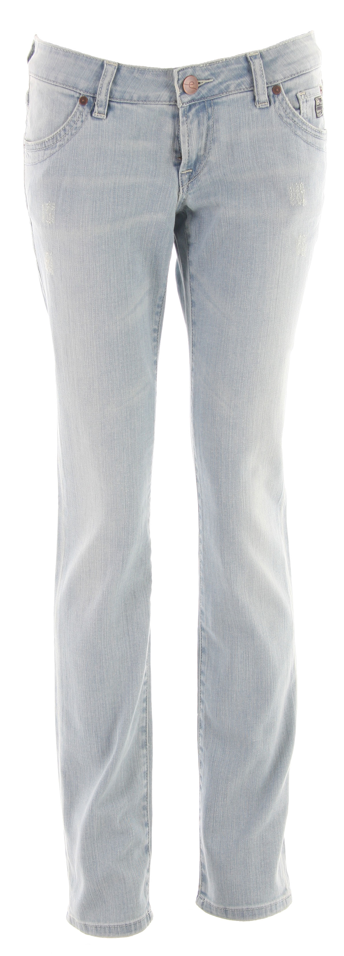 Planet Earth Skinny Cut Stone Wash Jean Light Indigo - $23.95