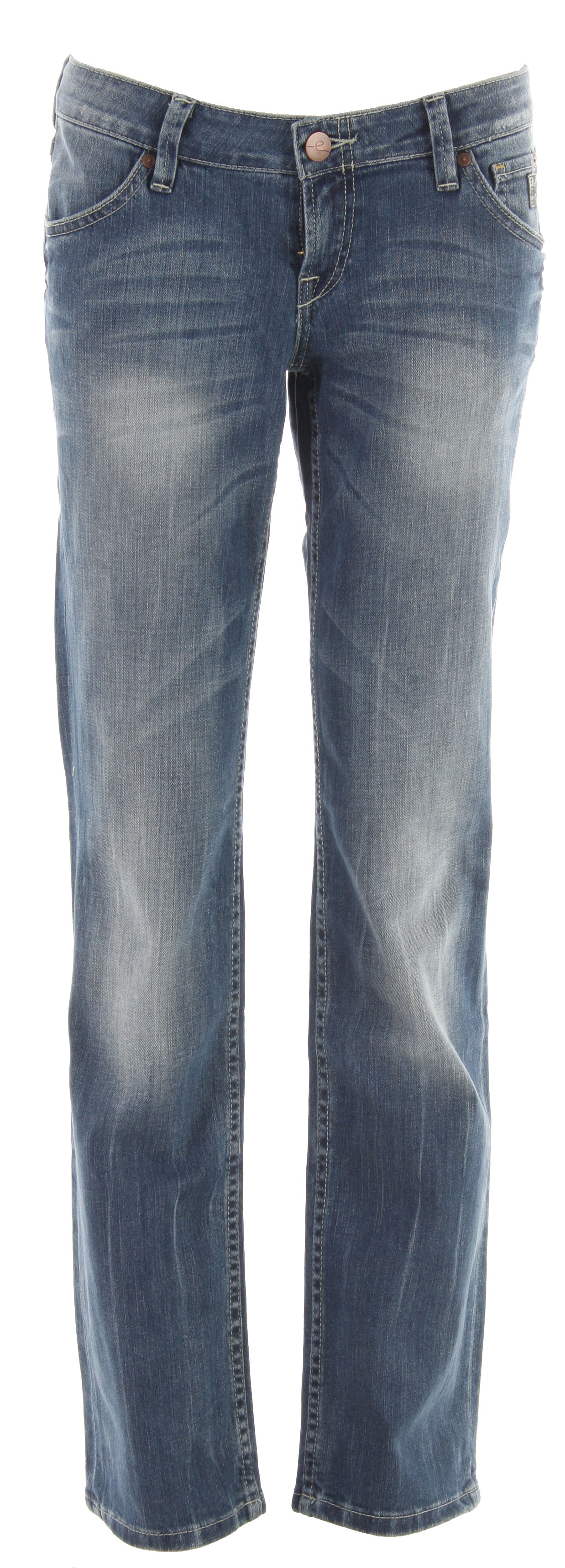 The Planet Earth Straight Cut Stone Wash Jean will become your favorite pair of pants in your wardrobe thanks to its useful features. These jeans are adjustable to your body figure given its organic cotton and spandex material. In addition, it comes with a standard zip fly and button closure. These are perfect for everyday wear due to its soft fabrics and versatility. Complete any stylish outfit by pairing these cute jeans with countless tops and footwear.Key Features of the Planet Earth Straight Cut Stone Wash Jean: Zip Fly Button Closure 20% Organic Cotton/78% Cotton/2% Spandex - $31.95