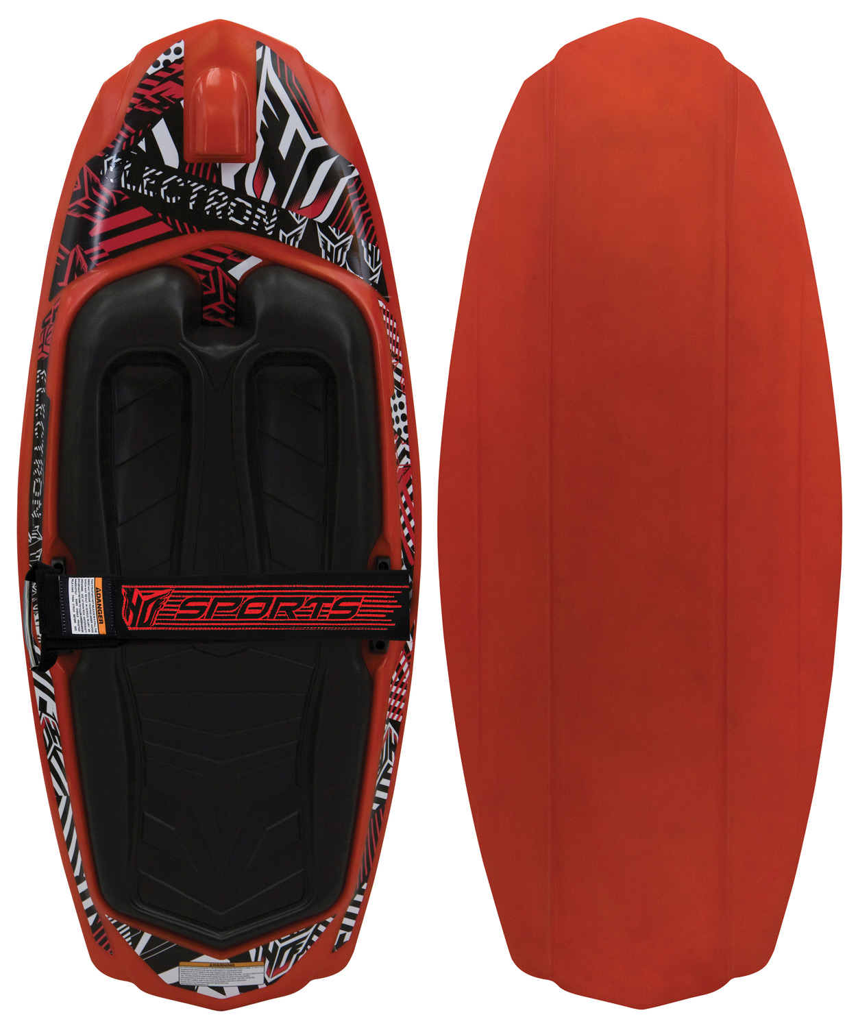 Feel the chargeKey Features of the HO Electron Kneeboard: 4 Molded in Fins for Great Control HO's Exclusive Easy Start System Large Orthotic Pad for Soft Landings PowerLock Single Locking Strap for a Comfortable Ride - $104.95