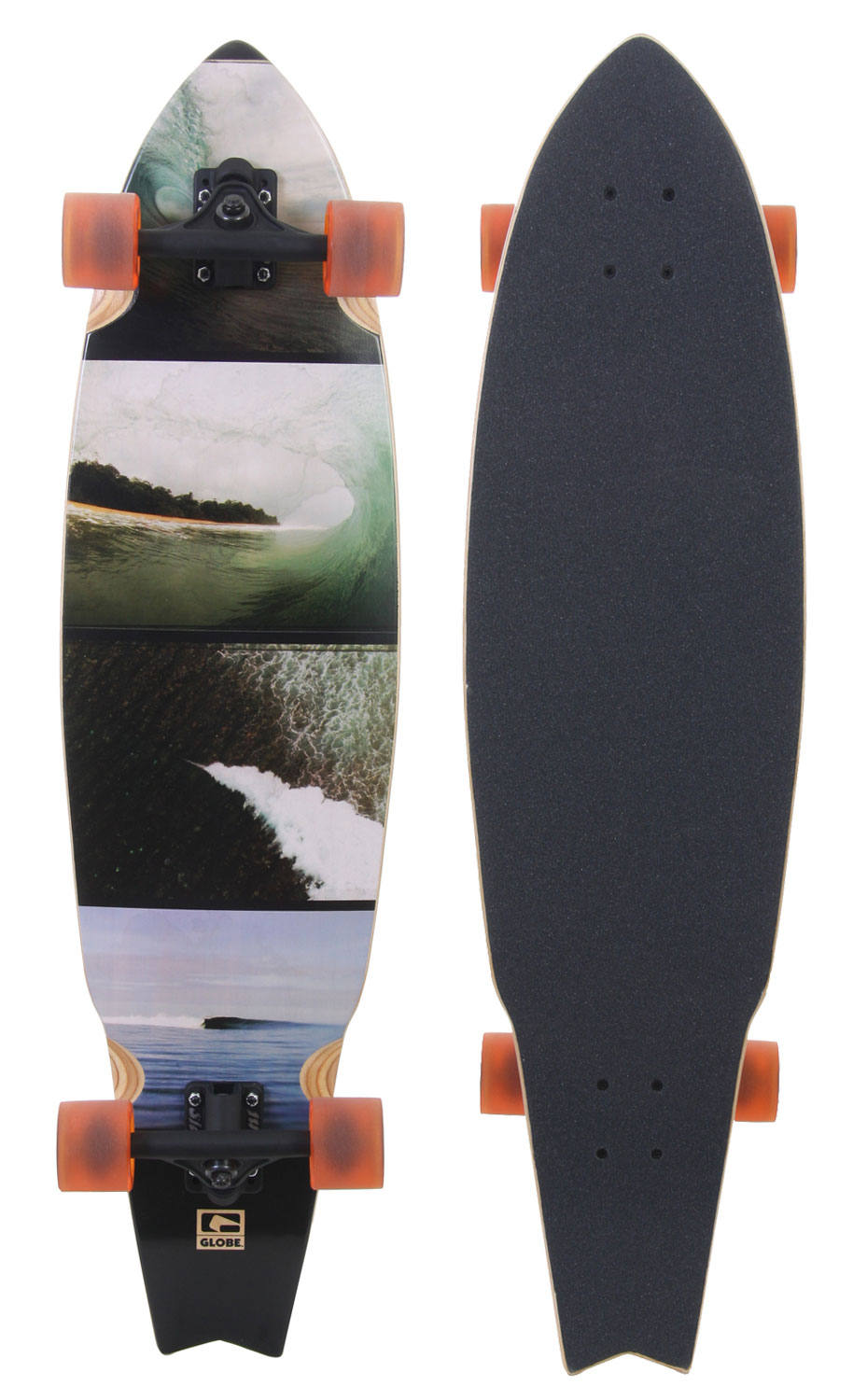 Skateboard Key Features of the Globe Empty Waves Longboard Complete: Chinese maple resin 8 ply Inverted trucks 150mm, hangar and baseplate black matte Wheels 65mm Globe abec 5 bearings - $159.95