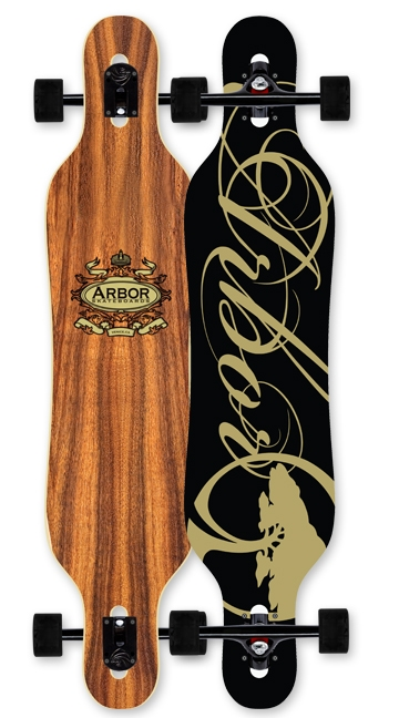 Skateboard A cambered, symmetrical, fiberglass reinforced drop-through that is built to deliver slide and carve performance, while maintaining a smooth ride. Expect stability, control, and return in a lightweight package.Key Features of the Arbor Genesis Longboard Complete: WOOD: All of our wood material comes from sustainable sources of supply. All wood by-product created during the production of our skateboards is reclaimed for use in other Arbor products or by outside companies. LUCID GRIP: Lucid grip is made with long-lasting crushed recycled glass. This ultra clear re-grip surface allows the deck's natural grain and color to remain highly visible, while providing better performance than silica bead alternatives. WATER BASED FINISHES: All Arbor skateboards are produced using a water-based sanding sealer to avoid polluting the air we breathe, especially when skating. - $269.95