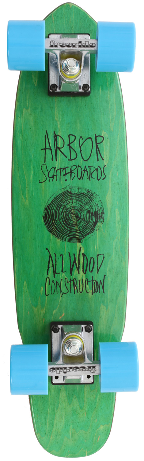 "Skateboard Arbor's keeping it old school with the Woody mini cruiser! The Arbor Woody Skateboard Complete is perfect to grab and go, either to school or if just need some milk from 7-11. You get the big cruiser wheels and shape without the bulk of a huge longboard. Cruise on!Key Features of the Arbor Woody Cruiser Longboard Complete: 7-ply maple 3"" Freeride Trucks 59 mm Freeride Wheels - Ideal for managing your speed, drifting, or any kind of high-powered turning Abec 5 Bearings 23.5 x 6 - $70.95"