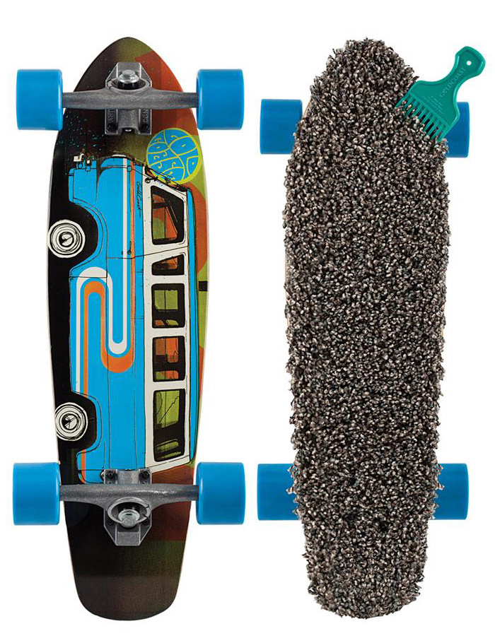 Skateboard Like Scrappy to Scooby, the Pile Driver is a rad little sidekick. Our signature custom Shag carpet grip lines our Shovel cruiser shape, and then we added Century 179mm reverse pivot trucks and 70mm Shred Boot wheels. The fun of a dune buggy with the comfort of a Microbus. Time to jump in feet first. - $66.95