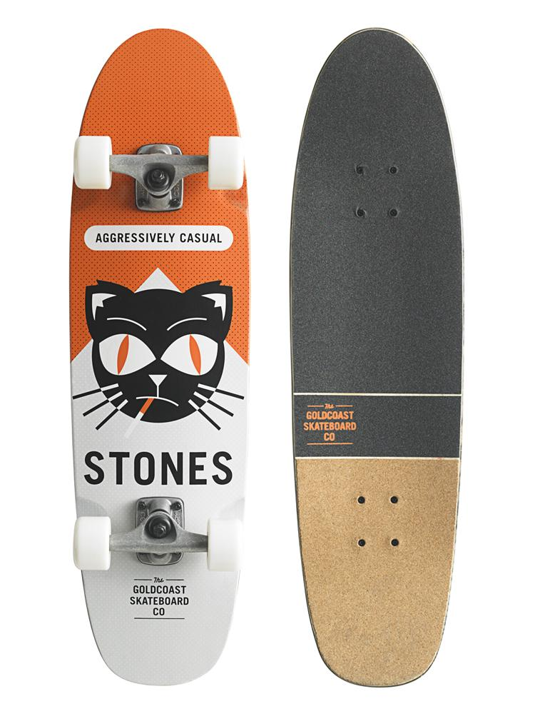 "Longboarding Key Features of the Goldcoast Softpack Longboard Skateboard Complete 8.5x31.5"": The Renegade Shape 31.5"" Long x 8.5"" Wide, 13.75"" Wheelbase 7ply Canadian Maple DieCut Grip Tape with Cork Tail HellCat Wheels, 60mm, 90a Century 129mm Trucks Raw Tumbled Finish 95a Bushings Century .25"" Flat Risers Genuine GoldCoast Parts A7 Bearings - $83.95"