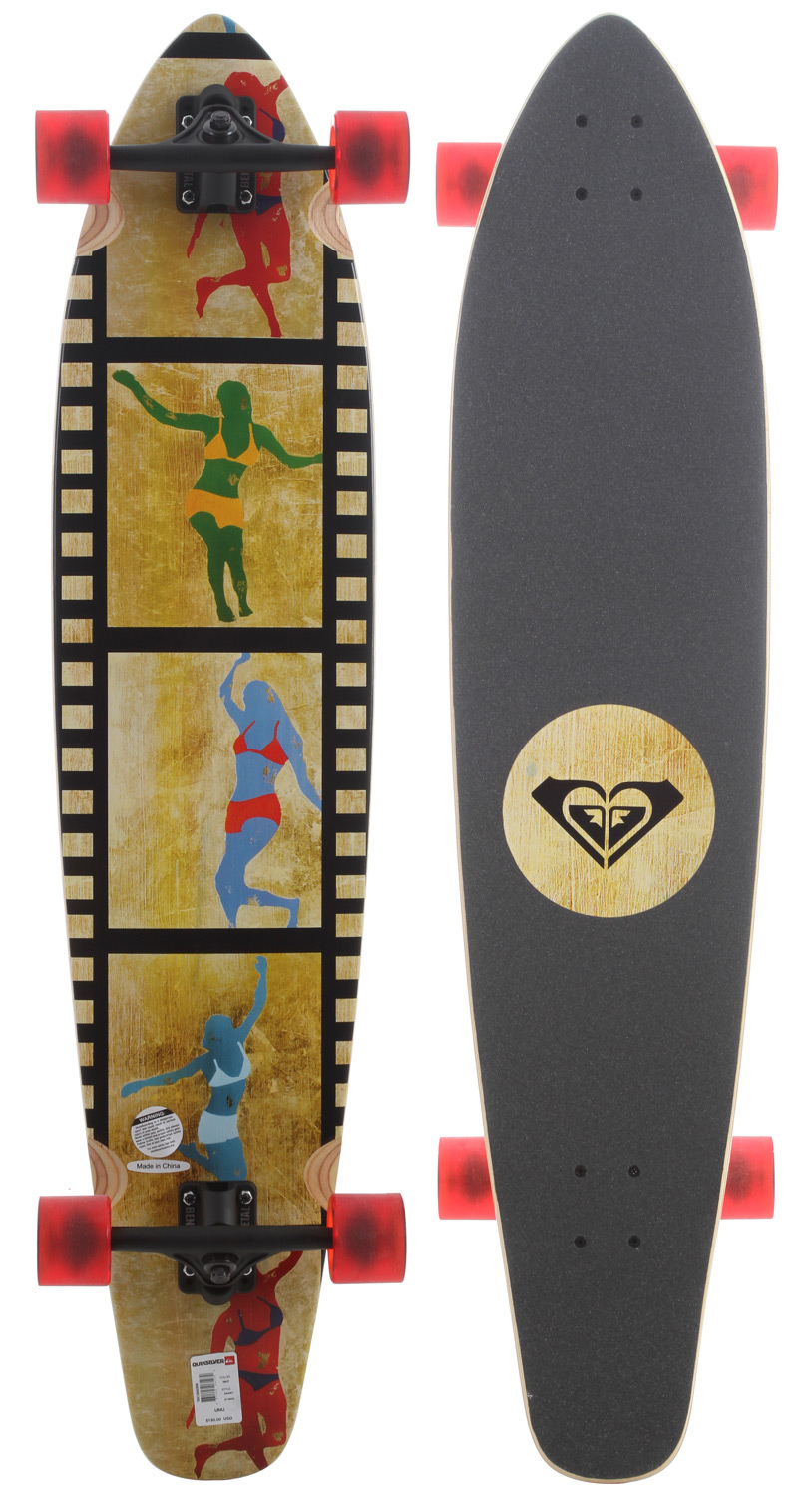 Skateboard Key Features of the Roxy Tiny Dancers Longboard Skateboard: Resin 7-ply Trucks 180mm inverted Wheels 64mm 78A - $195.00