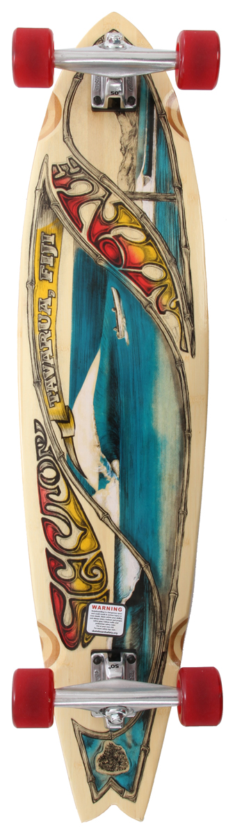 "Skateboard Key Features of the Sector 9 Fiji Bamboo Longboard: 5 Ply Vertically Laminated Bamboo Utilizes Patented Lamination Process 38.0"" L x 9.375"" W x 26.5"" WB 9.0"" Gullwing Charger Trucks 65mm 78a Soy Biothane Nineball Wheels Abec 5 PDP Bearings 0.5"" Sector 9 Recycled Plastic Risers 1.5"" Low Pro Hardened Steel Bolts Clear Grip Tape - $189.00"