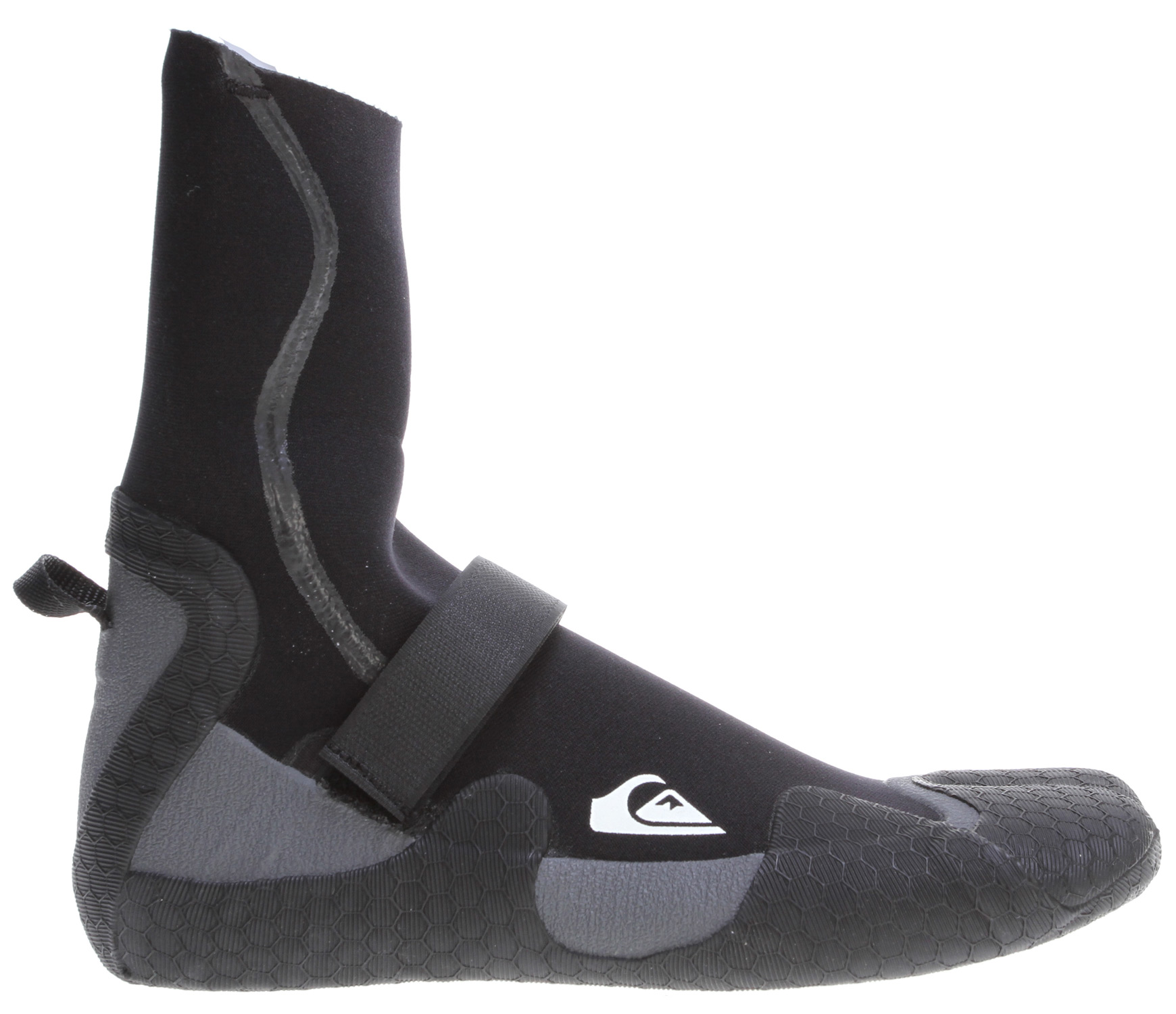 Surf Key Features of the Quiksilver Syncro 3mm Split Toe Booties: 100% freemax superstretch GBS (glued and blindstitched) Textured soft sole - $39.95