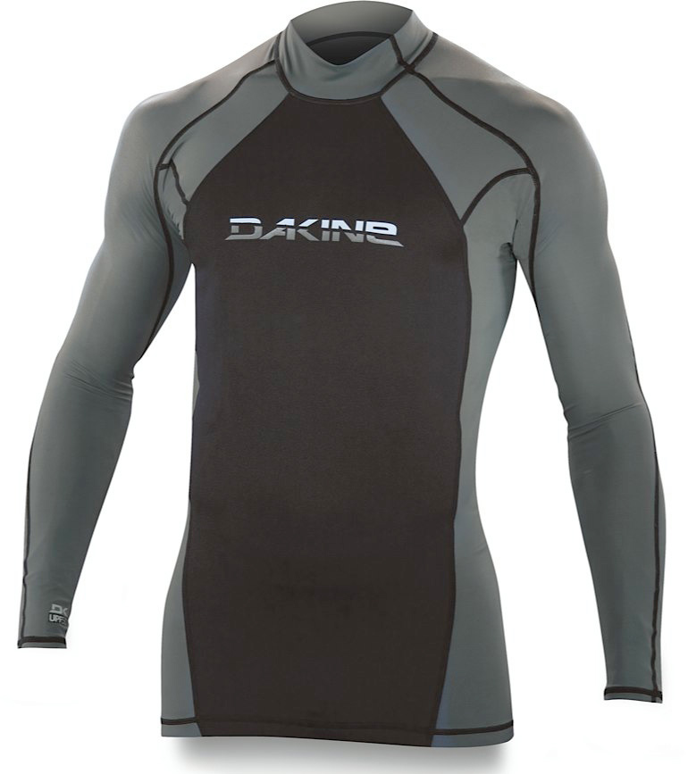 Surf Key Features of the Dakine Storm Neo-insulator L/S Rashguard: 1.5mm Neoprene 8 oz. Lycra Seamless underarms Center back bottom hem zipper closure UPF 50+ - $50.00