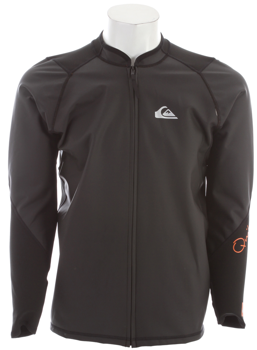 Surf Key Features of the Quiksilver Front Zip Paddle Jacket: Front zip style paddle jacket PU coated thermal wind barrier Lined with unbrushed polypropylene - $65.95