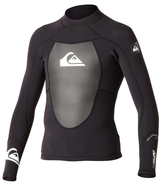 Surf Key Features of the Quiksilver Syncro 1.5m Ls Neoprene Top: 100% Hyperstretch 3.0 neoprene Vaporstretch mesh chest panel Flatlock seams, short lower back zip for easy entry - $69.95