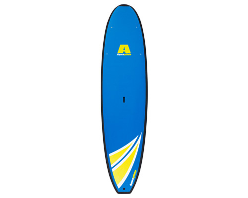 "Wake Composite SUP board. New for 2012, the Impulse is poised to make its mark. Finally, a composite board at an affordable price! Made using SunTec construction, the lightweight EPS core is reinforced with wood stringers and hand-laminated with fiberglass for stiffness, durability and torsional rigidity. The end result is a board that's nothing short of brilliant! Stiff, stable and responsive, the Impulse offers the kind of well-balanced paddling performance and durability that one expects from our premier SUP line, but at an even better price. Ideal for emerging users and all-around use. Comes complete with a rigid US fin and deck inserts for gear stowage.Key Features of the Aquaglide Impulse SUP Paddleboard 11': 11'L x 32""W x 4.75""H Every Aquaglide board comes complete with a heavy duty molded handle for convenient transport Full PE deck pad for comfort and performance - $999.99"