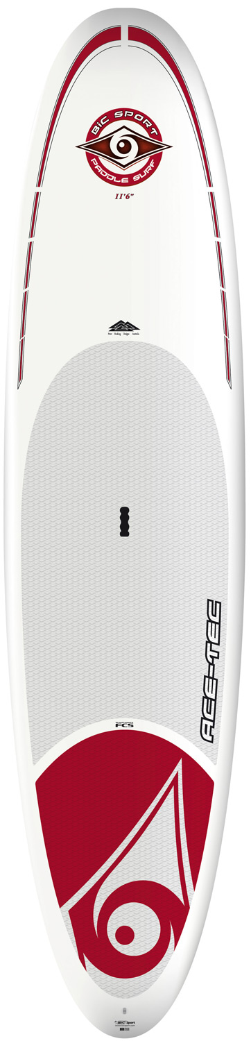 "Surf The 11'6"" ACE-TEC SUP has been shaped for riders up to 260lbs/120kg. It is a board with substantial volume and width for excellent lateral stability. With the volume evenly spread along the length, its finely balanced rocker and longboard-style outline , it is easy to handle in flatwater conditions while maintaining maneuverability in the surf zone. The 11'6"" is also a great choice for families looking to bring along the kids or pets. With decades of experience in windsurf and surfboard manufacturing BIC Sport is a pioneer of thermoformed composite construction technology. Over the past few years we've refined the ideal composite lay-up for SUP, with ACE-TEC as the result. Three sizes suit the needs of experienced riders and newbies alike with a unique combination of durability, light weight and performance shapes. All ACE-TEC boards come standard with the FCS fin system, a premium diamond groove EVA deck pad, ergo-grip carry handle and integrated rail guard.Key Features of the Bic Classic Paddleboard SUP 11' 6"": Length: 11'6in/350cm Width: 32.5in/82cm Volume: 215L Weight: 30lbs/13.5Kg Fin set-up: FCS Dolphin 10"" Shaper: Peter Hosking - $1,099.95"