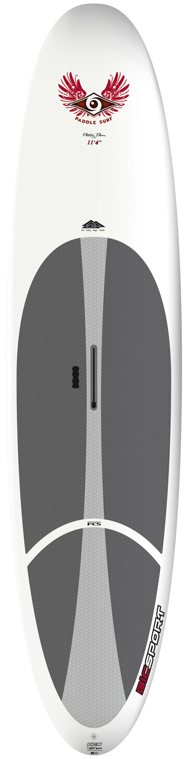 "Surf Designed for beginner to intermediate riders up to 220lbs/100kg and suitable for families looking to allow a variety of users the chance to try SUP. Its substantial volume is evenly spread from nose to tail, giving it its versatility. On the water it has great directional stability while retaining excellent maneuverability in small waves. The 11'4'' ACS SUP Wind comes with a mastfoot so that a rig can be mounted. It's then an ideal board for sailing in light to moderate winds. Combine an ultra-durable polyethylene outer shell (like a kayak but lighter weight) with a full polyurethane foam core (like a surfboard) and what do you get? An extremely durable board for less money than you'd expect. Thermoformed in steel molds, ensuring consistent and accurate reproduction of the original shape. Proven and long lasting with great performance, ACS boards are aimed at beginner riders just getting into the sport looking for a strong, stable board for flatwater paddling with the potential to progress into surfing. They're ideally suited to surf and SUP schools looking for strong, easy to use equipment that students can make rapid progress on. All ACS boards feature the FCS fin system, a premium diamond groove EVA deck pad and ergo-grip carry handle.Key Features of the Bic Wind ACS Paddleboard SUP 11' 4"": Length: 11'4in/345cm Width: 32in/81cm Volume: 205L Weight: 41lbs/18.5Kg Fin set-up: FCS Dolphin 10"" Shaper: Peter Hosking - $899.95"