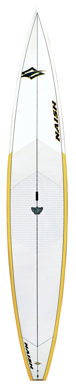 "Wake The Glide 12 is the perfect choice for flatwater adventures, cruising with friends and recreational racing. Compared to longer race-oriented SUP boards, the 12 is incredibly fast, but easy to maneuver and carry. The Glide 12 has a penetrating vee nose and flat rocker, for exceptional glide. It also features ample width and thickness for great stability.Key Features of the Naish Glide SUP Paddleboard 12': 12""0' x 29 ' x 5 ', 231L - $1,292.95"