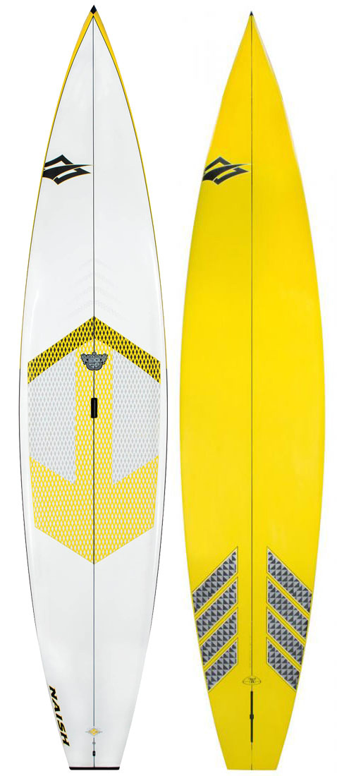 "Wake The Glide 12'6' is the perfect choice for flatwater adventures, cruising with friends and recreational racing. Compared to longer race-oriented SUP boards, the 12'6"" is incredibly fast, but easy to maneuver and carry. The Glide 12'6"" has a penetrating vee nose and flat rocker, for exceptional glide. It also features ample width and thickness for great stability.Key Features of the Naish Glide AST SUP Paddleboard 12' 6"": Length: 12'6in/381cm Width: 30in/69.2cm Volume: 265Lt Weight: 31lbs/14Kg ATS Construction: A glass construction with wood reinforcement in the stance area. US 11.5 Fin Ledge Carry Handle: This recessed ergonomic carry handle makes for effortless transport to and from the water. Eco Boardbag: The Eco Boardbag reduces packaging by 85%. - $1,489.95"