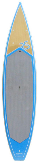 "Surf The 12'6"" Touring TS126 SUP is designed for the adventurer in all of us!The Touring Series stand up paddle boards are perfectly designed for ""flat water paddlers"" looking to enjoy long range paddling or recreational racing, making long distance adventures much easier than with a traditional surf style board. Its unique canoe style displacement nose, hard rails, and L.P.T. (Levitation, Planing, Technology) creates the same effortless paddling as its smaller counterpart the TS116. The 12'6"" length and 30.5"" width combination creates one of the most stable high-end recreational boards on the market today!Key Features of the Rave Touring SUP Paddleboard 12'6"": 12'6"" x 30.5"" x 5.5"" 31 lbs. Epoxy resin board with hard rails EVA deck pad Leg leash attachment ring Attachment rings for elastic cargo straps 10"" removable single bottom fin Self venting plugs Recessed handle pocket Bottom stringer - $1,063.95"