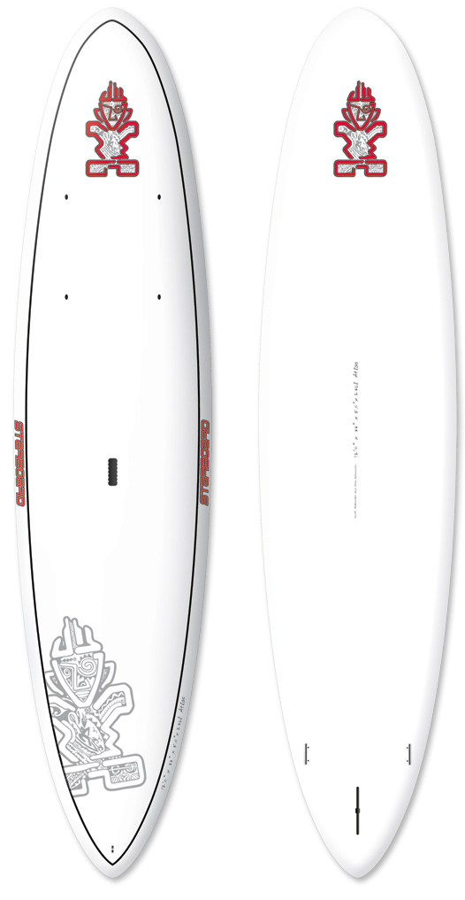 "Wake ""The 12'0"" x 33"" wide-body hull with voluminous middle rails, creates a stable platform with good glide."" The Atlas was inspired by our long time friend Elling Balhald. He felt that despite Starboard having the world's largest paddleboard offering, no shape was perfect for middle to heavy weight new-comers to the sport wanting to explore coastlines, lakes, rivers and yet still have a board to check out local breaks. The length and smooth rocker promotes good glide for riders at all levels. Generous nose kick and ample tail kick makes it an easy board to catch waves with. The thin nose profile helps keeping the swing weight down. Deck inserts are provided on the nose of the board for gear storage. ""Mono concave merging to a flat V""Key Features of the Starboard Atlas AST SUP White 12' x 33"": Economical price with the same construction as AST Silver and AST Candy. Identical in shape to AST Candy, Wood and Silver models. Light-weight Startouch deck grip. Starboard injectionmolded center fins. 11'2"" x 36"", 10'5"" x 32"", 10'5"" x 30"", 10'0"" x 36"", and 10'0"" x 34"" are supplied with side flex fins and other boards with center fin only. Same great Starboard service and warranty. Length (cm): 365.8 Width (cm): 8.38 Thickness (cm): 12.7 Tail Width (cm): 42.6 Volume (L): 236 Center Fin: Hexcel 220 Side Fins: M4.7"" - $1,159.95"