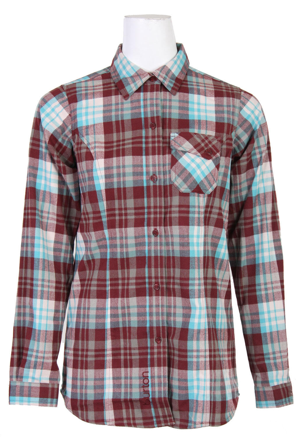 Snowboard Finally, flannel that won't freeze! Those who've rocked the button-down know,it starts out cozy, but ends up saturated and sloppy. Not this time with our stealth use of DRYRIDE Ultrawick fabric in the women's Burton Player Flannel. Burton Team Riders, Kelly Clark and Hannah Teter, dig the function, too, with it's quick drying, highly breathable performance and odor-fighting antimicrobial finish.Key Features of The Burton Player 1st Layer Top:  DRYRIDE Ultrawick Yarn-Dyed Plaid Flannel  Quick-Drying and Highly Breathable  Stink-Proof Antimicrobial Finish  Button Up Closure  Chest Pocket - $41.95