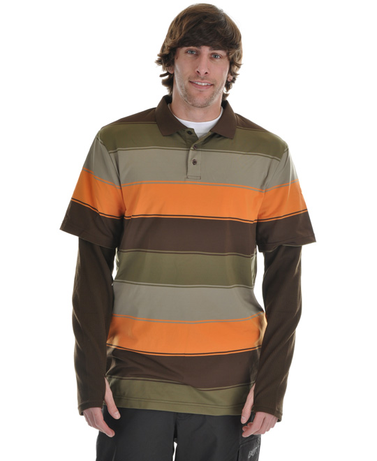 Snowboard Stand out in this great shirt, the Burton Waffle First Layer Polo. Made with dryride ultrawick polyester, this shirt is super soft to the touch. This shirt is quick drying and highly breathable. It features great colorful horizontal stripes throughout, adding great appeal. Super comfortable, add this shirt to your wardrobe and rock it with confidence and style.Key Features of the Burton Waffle First Layer Polo: DRYRIDE Ultrawick Polyester / Spandex Blend with Waffle Arms Quick-Drying and Highly Breathable Stretch 360 for Unlimited Mobility Stink-Proof Antimicrobial Finish 3-Button Collar - $47.95