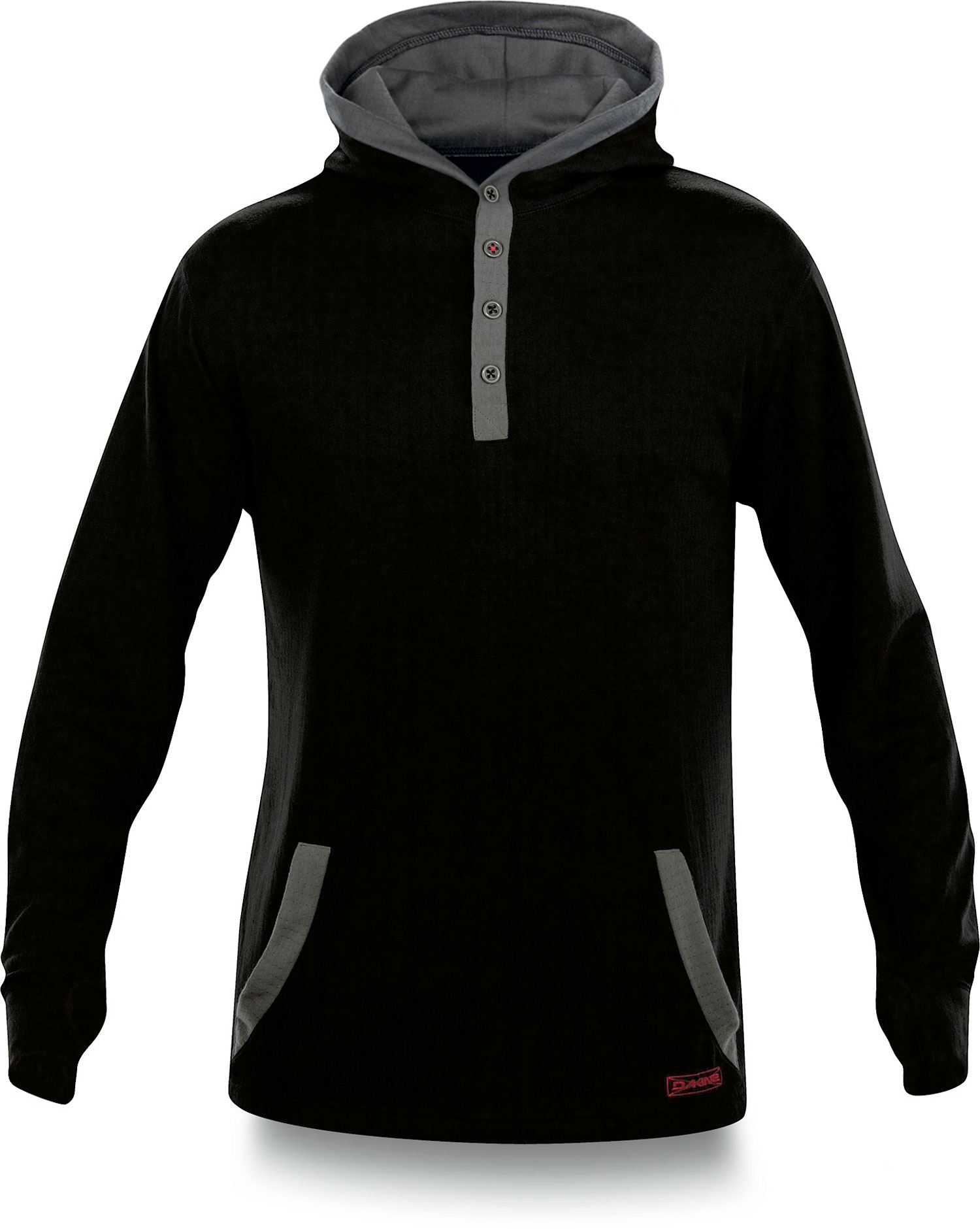 Surf Built of two layers for warmth and dryness without the bulk, the Dakine Gunner baselayer is designed to keep you comfortable and looking good, tooKey Features of the Dakine Gunner Hoodie Baselayer Top: 100% Polyester double-knit Two layers for warmth and dryness with no bulk AEGIS Microbe Shield antibacterial Fitted hood Button front placket Thumb holes at cuffs - $55.00