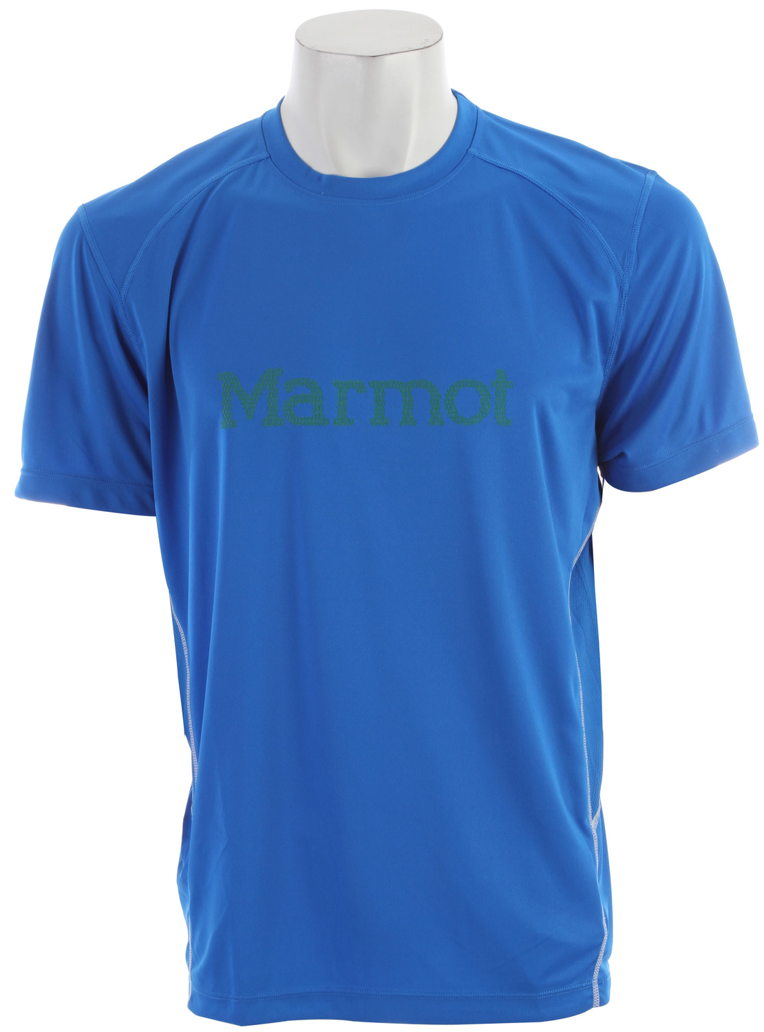 Key Features of the Marmot Windridge w/ Graphic Shirt: Weight 0lbs 13.4oz (379.9g) Materials 100% Polyester Jersey 4.0 oz/yd 100% Polyester Mesh 3.0 oz/yd Fit Semi-Fitted Lightweight, Breathable, Quick-Drying Performance Knit Fabric Ultraviolet Protection Factor (UPF) 50 Quick-Drying and Wicking Mesh Panels for Breathability Contrast Flat- Locked Seams for Added Comfort Center Front Graphic Logo Tag-Free Neckline Reflective Logos - $34.95