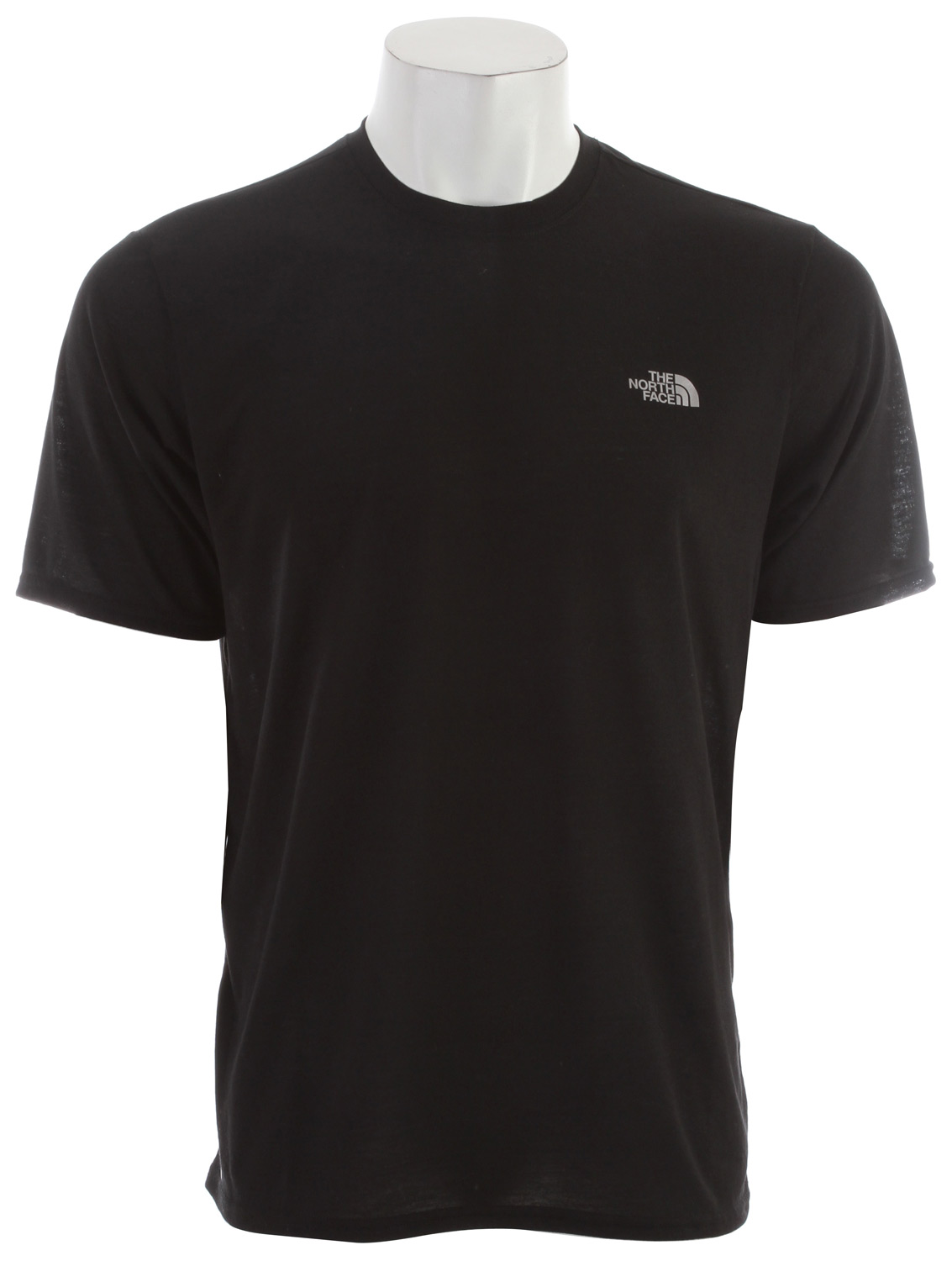 "Short-sleeve VaporWick tee provides excellent moisture management with a comfortable cotton feel, perfect for in-the-gym training. Key Features of the The North Face Reaxion Crew T-Shirt: Soft, ultralight fabric Relaxed fit Set-in sleeves Drop-tail hem Locker loop Center back: 27.5"" Fabric: 140 g/m2 100% polyester jersey - $16.95"