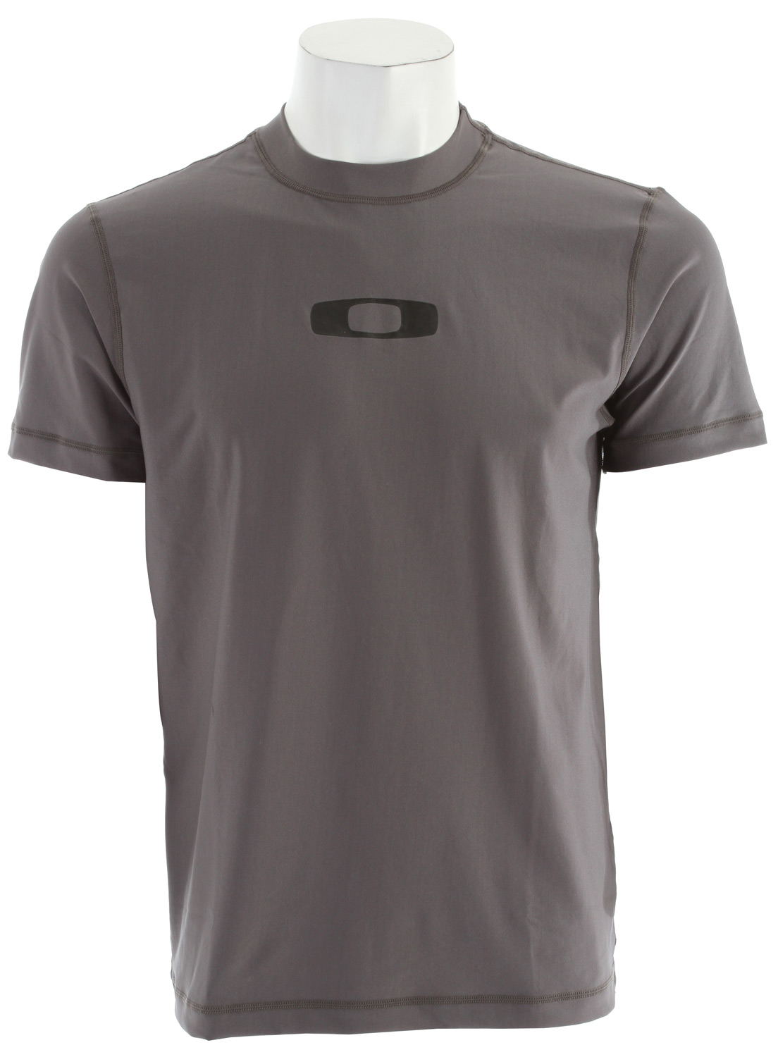 Short sleeve mesh rashguard with flatlock stitching and front and back logo screenprint. T shirt FitKey Features of the Oakley Square O Rashguard: 88% Polyester, 12% Spandex - $24.95