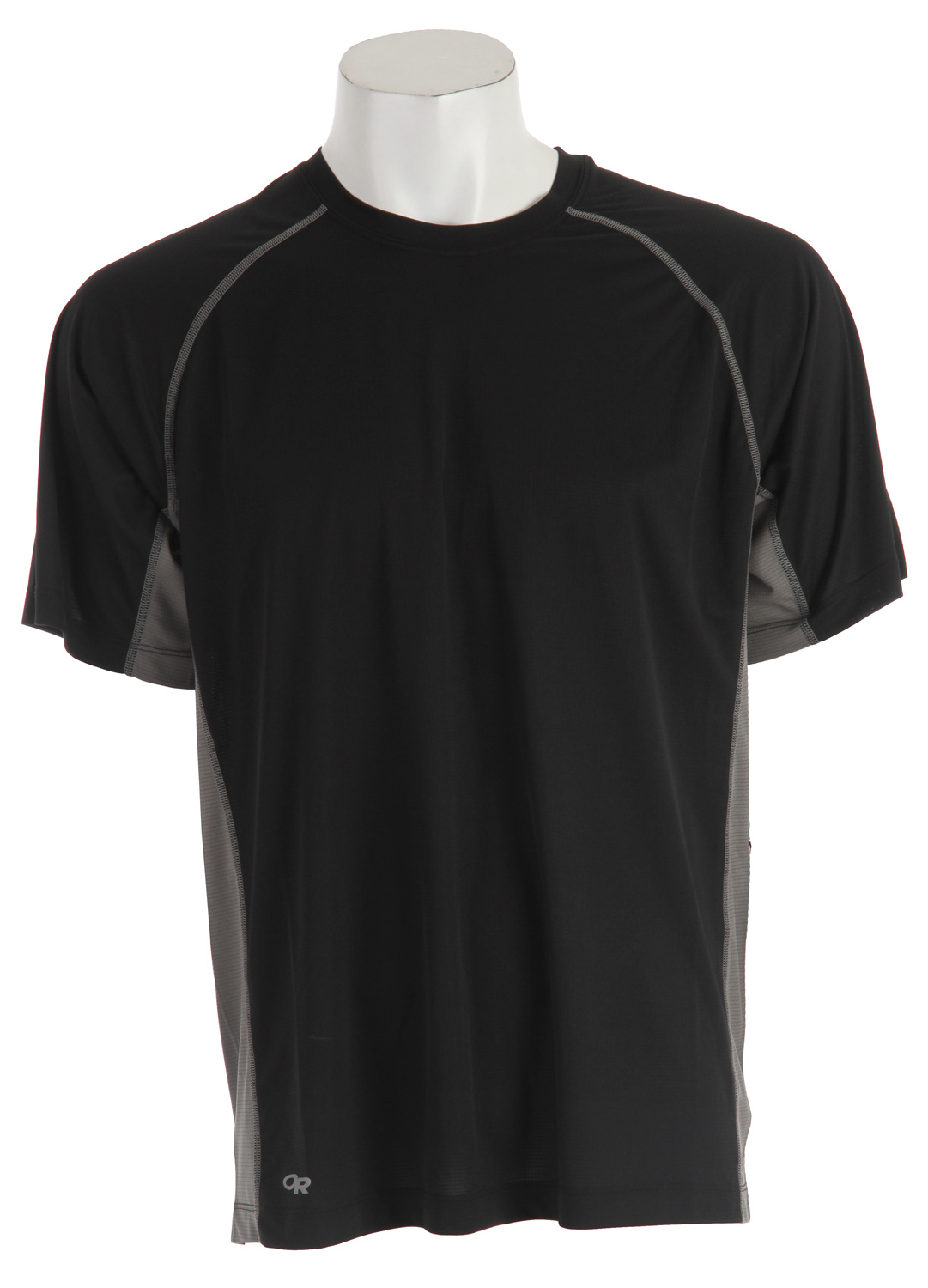 Fitness Pace your run through sunny basins and shaded forests in this light, trail-oriented tee. Polyester AirVent&trade fabric manages moisture and provides UPF 15 sun protection. Flat-seam construction reduces chafing and Polygiene odor control keeps it fresh whether it's your second or tenth day out. Key Features of the Outdoor Research Echo Duo T-Shirt: Lightweight, polyester AirVent fabric dries quickly and manages moisture; UPF15 Polygiene active odor control Flat-seam construction reduces chafing Raglan sleeves Reflective tape at back of neck Avg. Weight (oz./g): 4.0 / 113(size large) - $20.95
