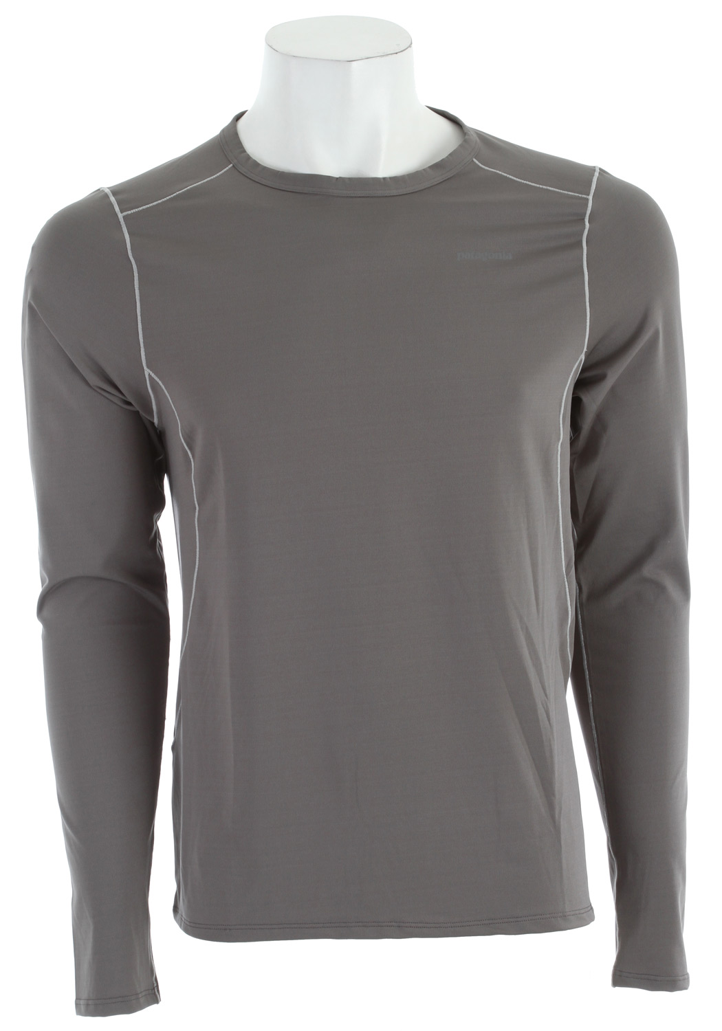 Our stretchiest synthetic baselayer keeps you dry and cool with 50+ UPF sun protectionKey Features of the Patagonia Capilene 1 Silkweight Stretch Crew Baselayer Top: Polyester/spandex jersey blend for superior stretch and moisture management Durable smooth jersey face is comfortable against the skin Self-fabric crew neck Seams offset for maximum mobility with minimum chafe Reflective heat-transfer logo on front and center back Machine-wash cold, tumble dry at low temperature Slim fit (6.8 oz) 192 g fabric: 5.1-oz 84% polyester/16% spandex jersey with Gladiodor odor control for the garment and 50+ UPF sun protection - $24.95