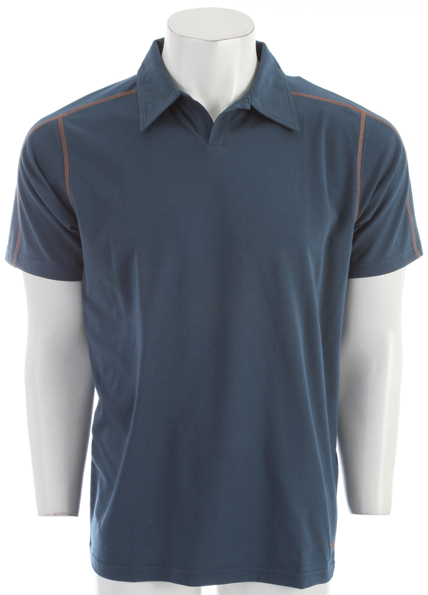 A quick-to-dry, stretchy polo shirt made of a lightweight organic cotton/polyester/spandex jersey-knit blend, with 50+ UPF sun protection FABRIC: 5.8-oz 55% organic cotton/35% all-recycled polyester/10% spandex jersey knit, with 50+ UPF sun protectionKey Features of the Patagonia Stretch Polo: Slim fit Made of a plaited stretch fabric blend with a soft organic cotton exterior and polyester on the inside to wick moisture Short placket and offset shoulder seams for pack-wearing comfort Contrast stitching and logo Provides 50+ UPF sun protection Straight hem - $41.95