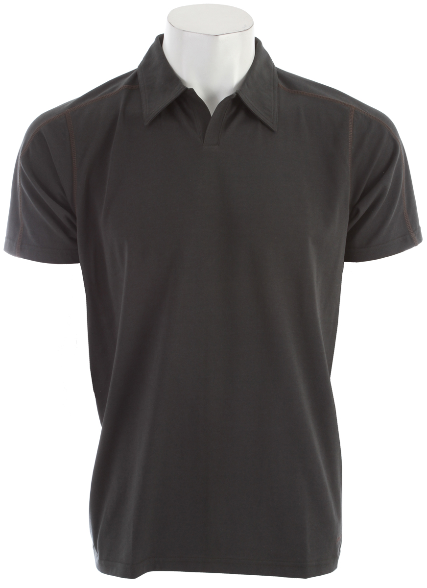 A quick-to-dry, stretchy polo shirt made of a lightweight organic cotton/polyester/spandex jersey-knit blend, with 50+ UPF sun protection FABRIC: 5.8-oz 55% organic cotton/35% all-recycled polyester/10% spandex jersey knit, with 50+ UPF sun protectionKey Features of the Patagonia Stretch Polo: Slim fit Made of a plaited stretch fabric blend with a soft organic cotton exterior and polyester on the inside to wick moisture Short placket and offset shoulder seams for pack-wearing comfort Contrast stitching and logo Provides 50UPF sun protection Straight hem - $37.95