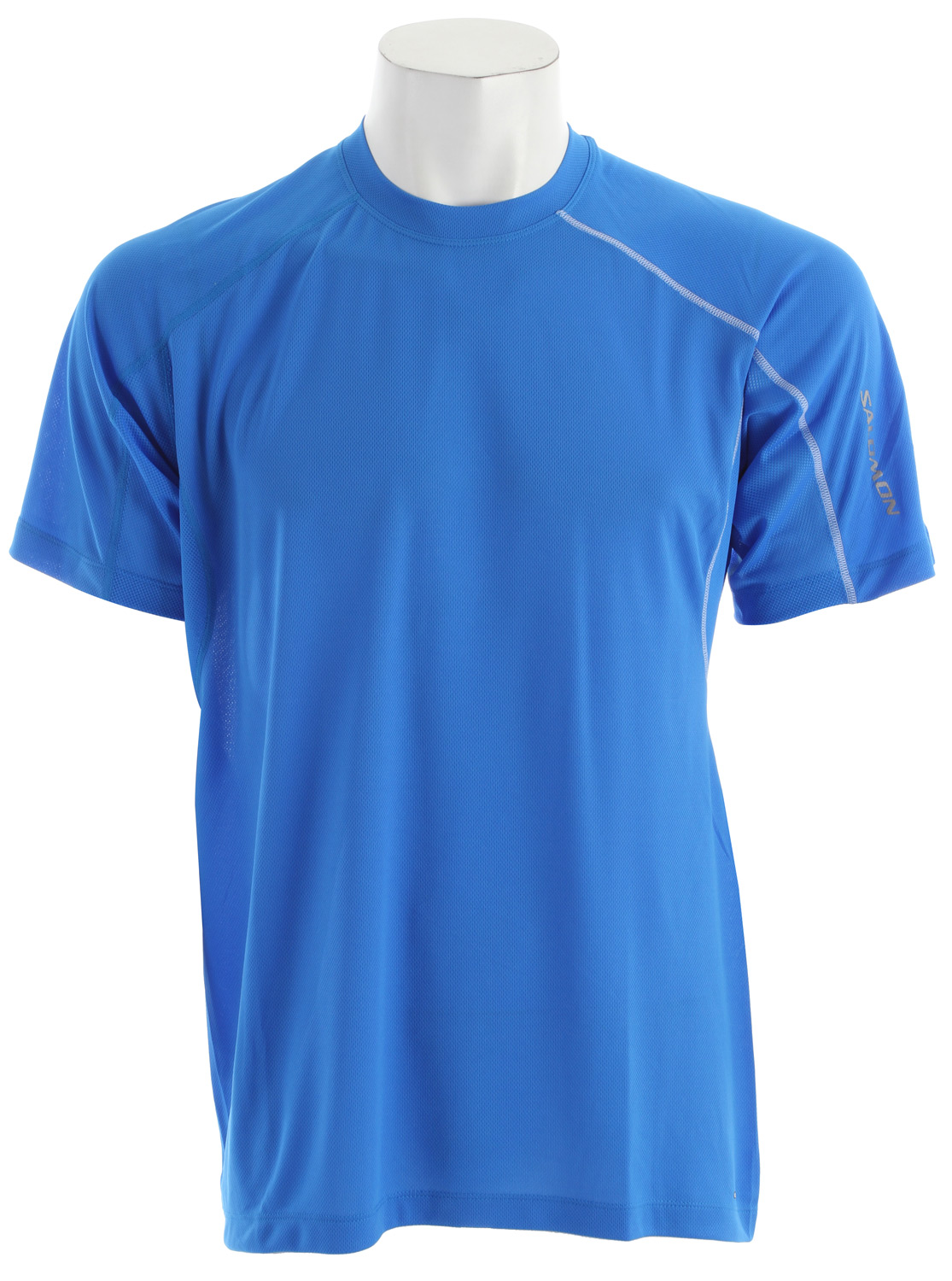 Fitness Relaxed fitting, versatile tee for running and outdoor sports with mesh pit vent panels, updated seam detailing and stash pocket.Key Features of the Salomon Trial IV T-Shirt:  Smart Skin  Actilite poly mock eylet  Actilite stretch mesh  Reflective branding front & back  Stash pocket  Flatlock seams  Body: PES 100%  Relax fit  120g - $25.95