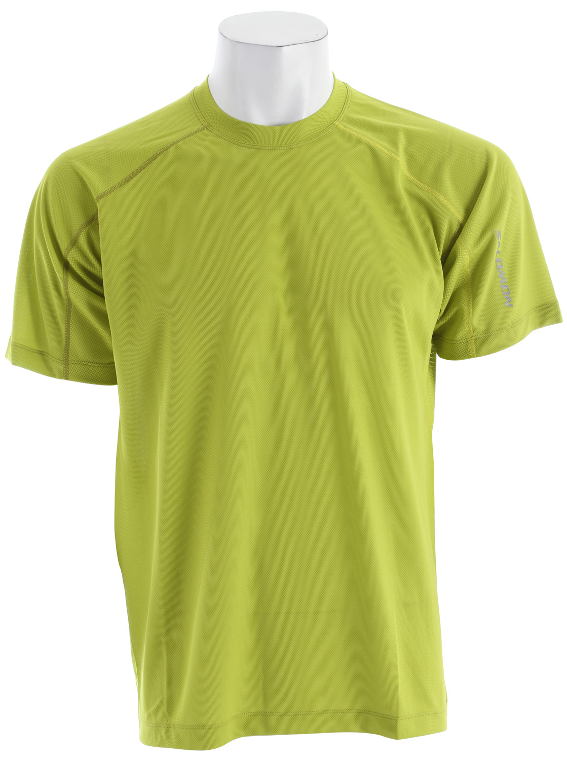Fitness Relaxed fitting, versatile tee for running and outdoor sports with mesh pit vent panels, updated seam detailing and stash pocket.Key Features of the Salomon Trial IV T-Shirt: Smart Skin Actilite poly mock eylet Actilite stretch mesh Reflective branding front & back Stash pocket Flatlock seams Body: PES 100% Relax fit 120g - $22.95