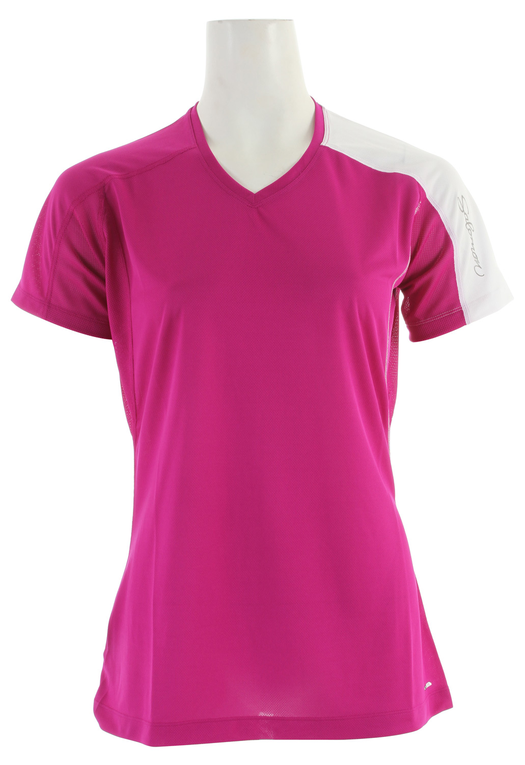 Fitness Relaxed fitting, versatile tee for running and outdoor sports with stretch actiLITE fabric and mesh underarm. Updated seam detailing and stash pocket.Key Features of the Salomon Trail IV T-Shirt: SMART SKIN Flatlock Seams Stash Pocket Reflective Branding Front & Back actiLITE Stretch Mesh actiLITE Poly Mock Eyelet Relax Fit - $22.95
