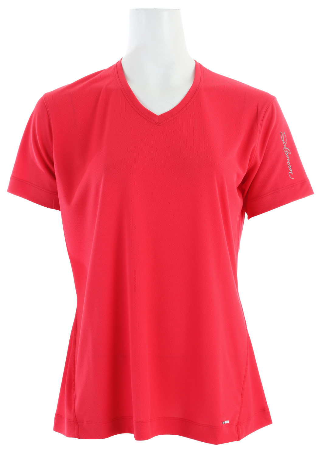 Fitness Relaxed fitting, wicking T-shirt for running or outdoor sports in warm weather.Key Features of the Salomon X T-Shirt: Actilite poly mock eylet Reflective branding Flatlock seams Body: PES 100% Relax fit 90g - $17.95